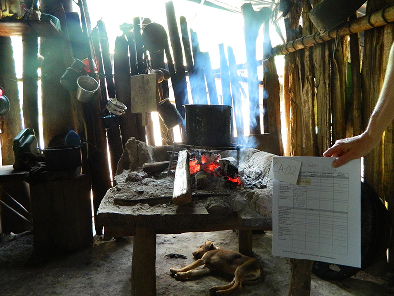 Monitoring a family's traditional cooking fire